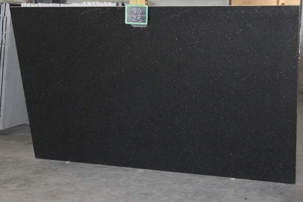 Black Galaxy Granite Slabs Polished Granite Slabs