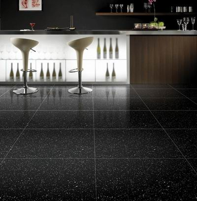 China Black Galaxy Granite slabs and tiles