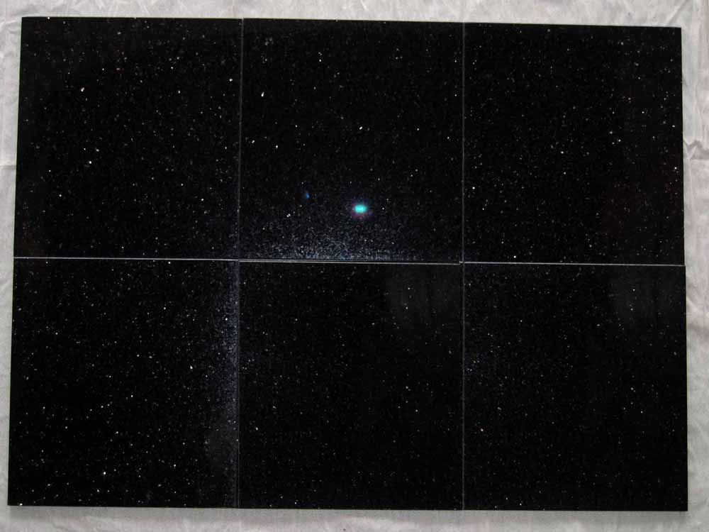 Black Galaxy Star Galaxy Verde Star