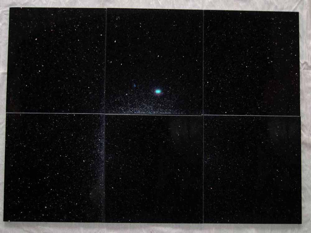 Black Galaxy Star Galaxy Verde Star