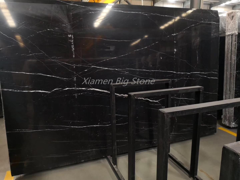 Nero Marquina Black Marble Slab