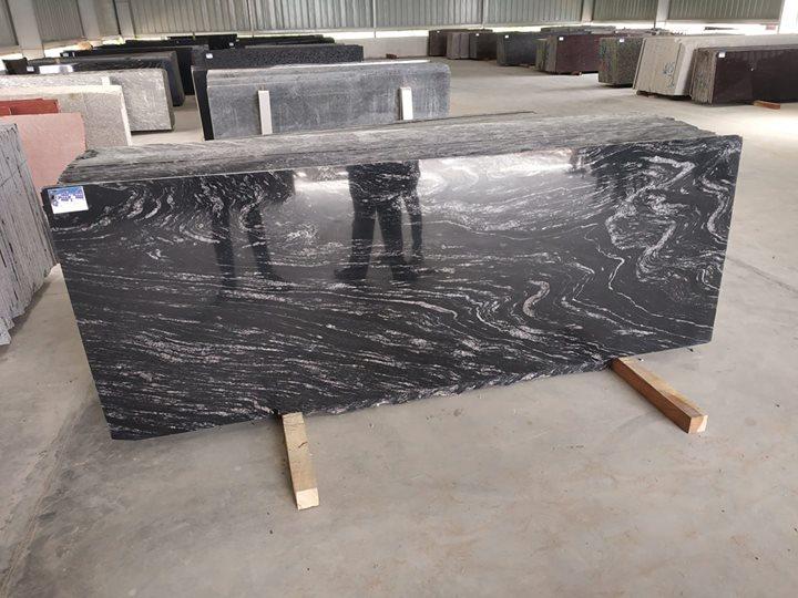 Black Marchino granite slabs