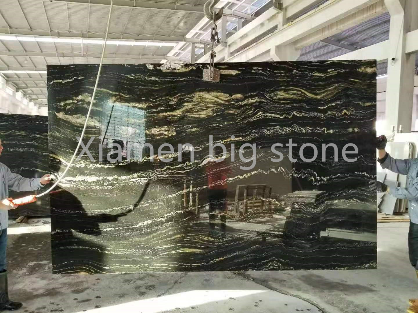 Black Portoro Marble Big Slab