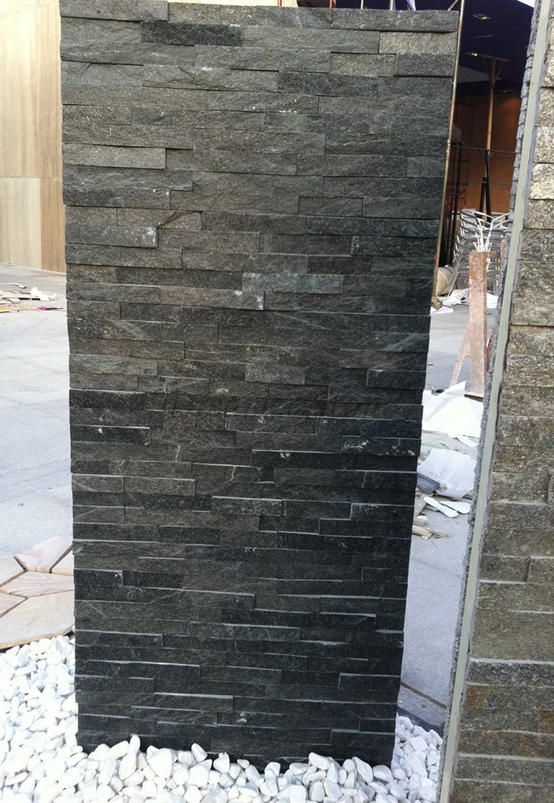 Black quartzite ledger stone
