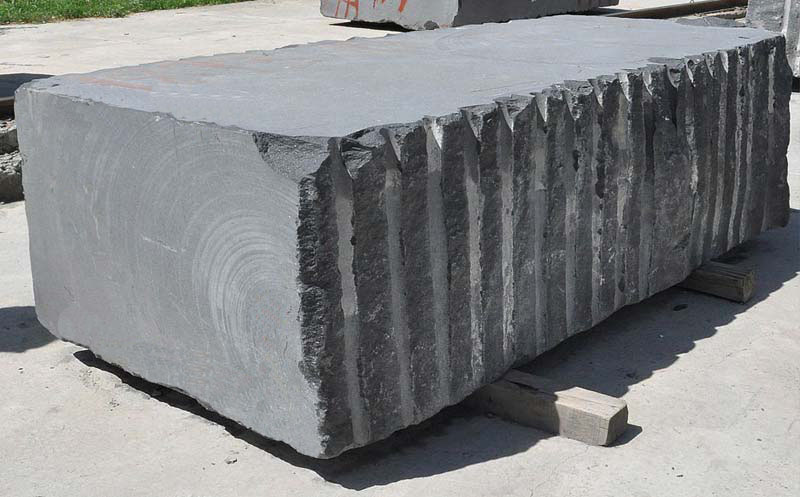 India Black Rough Granite Block