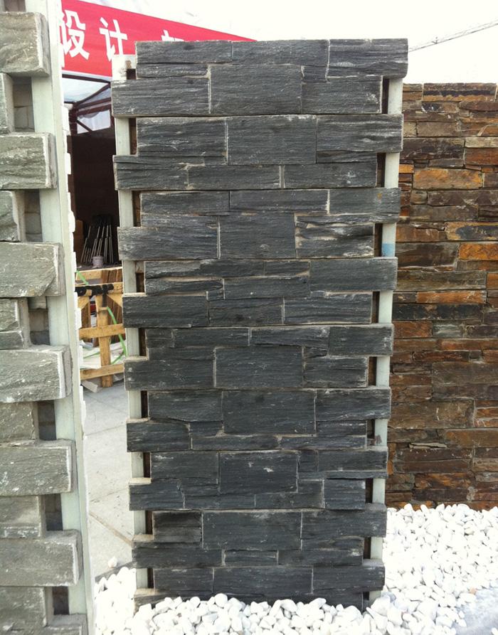 Black slate cement culture stone