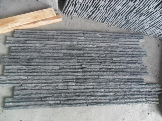 Black Slate Cleft Pull Culture Stone