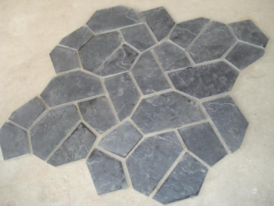 Black Slate Crazy Paver