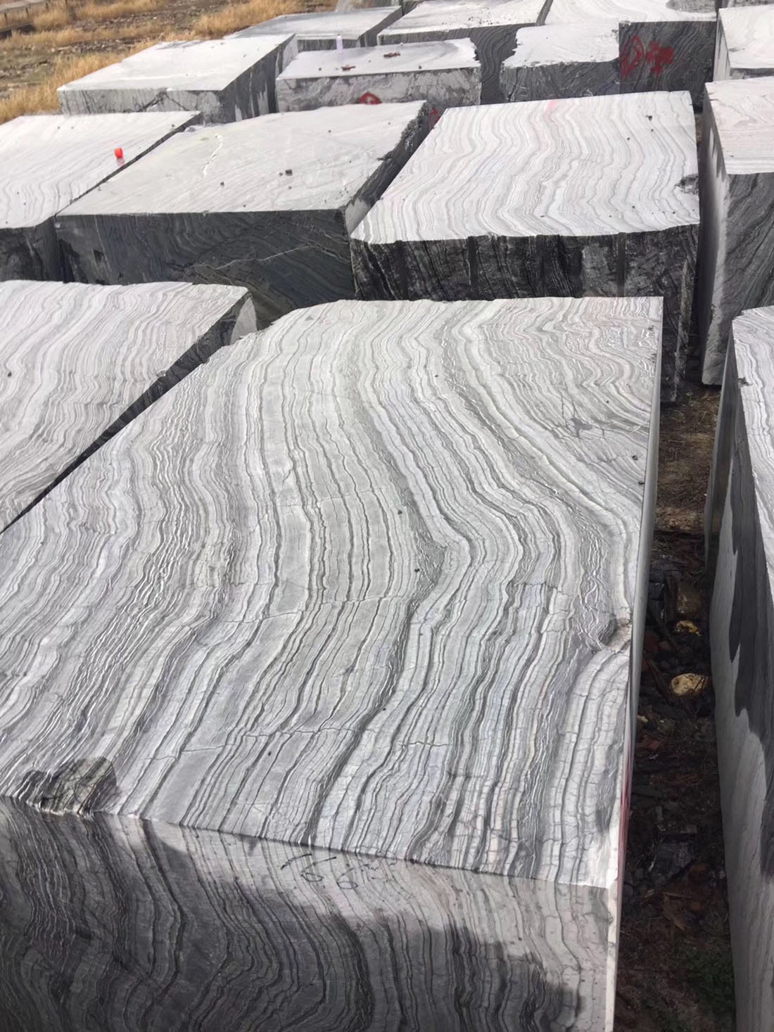 Black Wood Marble Blocks