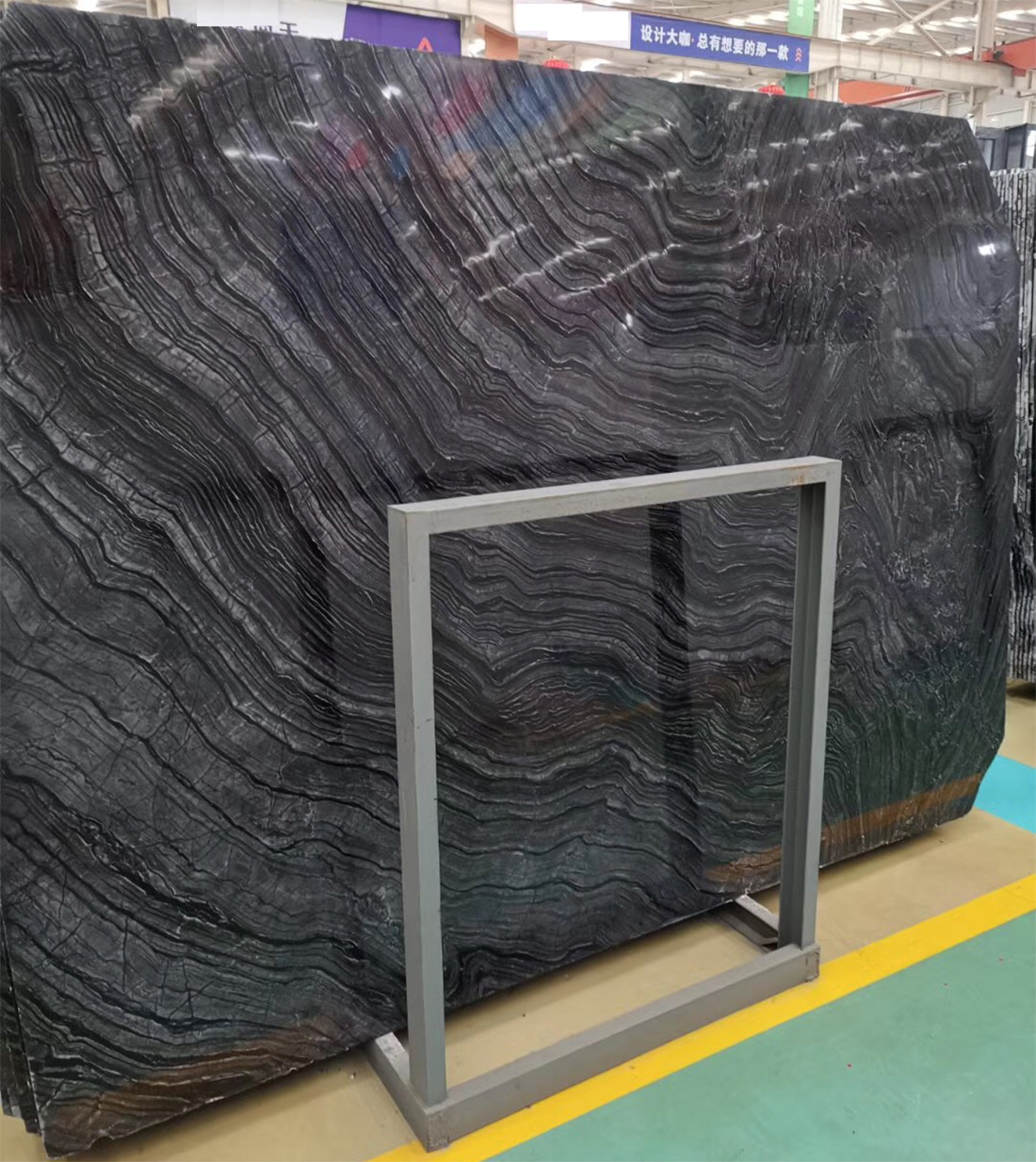Black Wood Marble Slabs