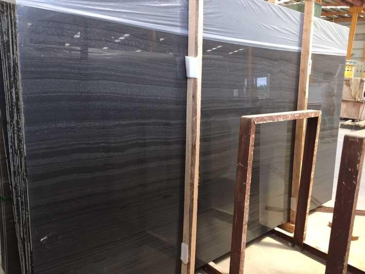 black wood slab