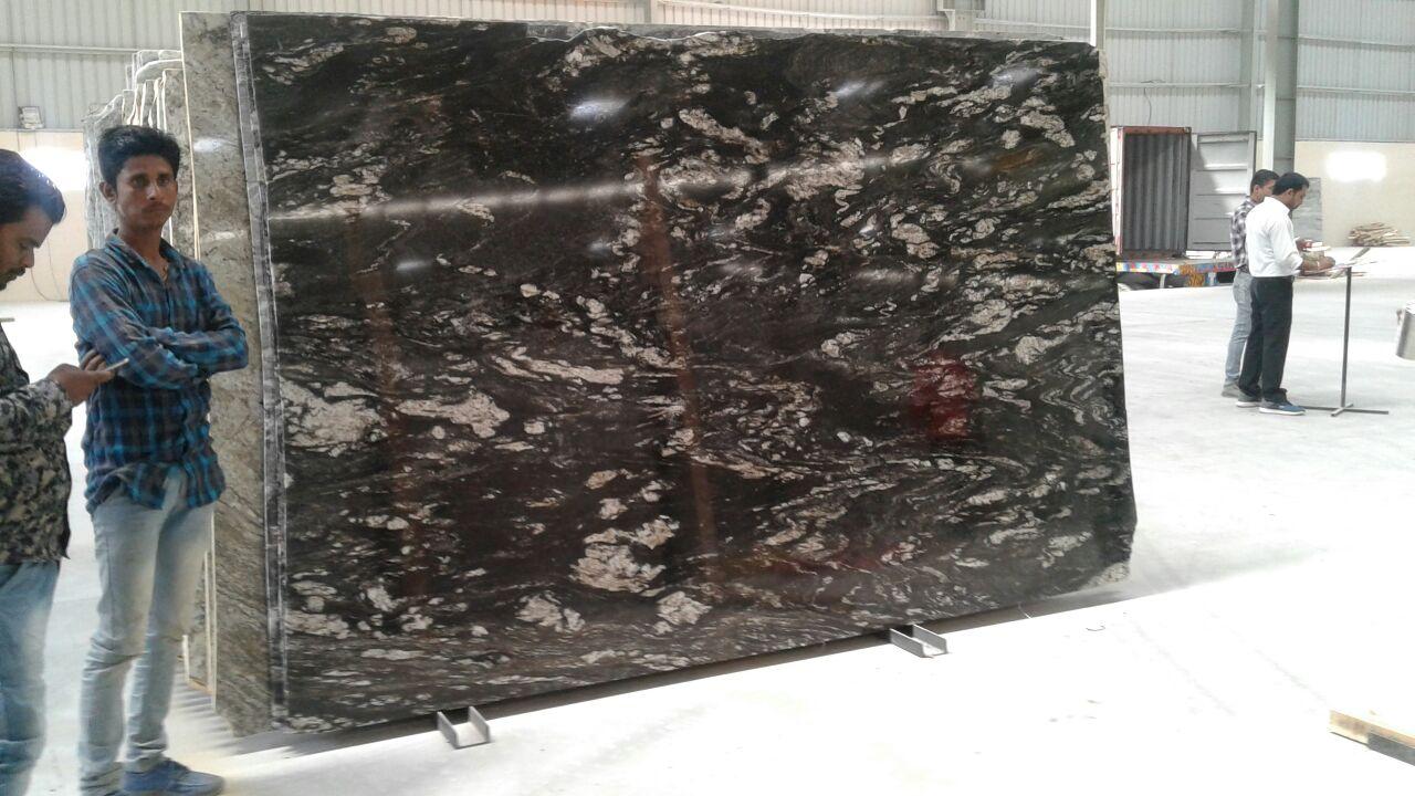 Black dial granite