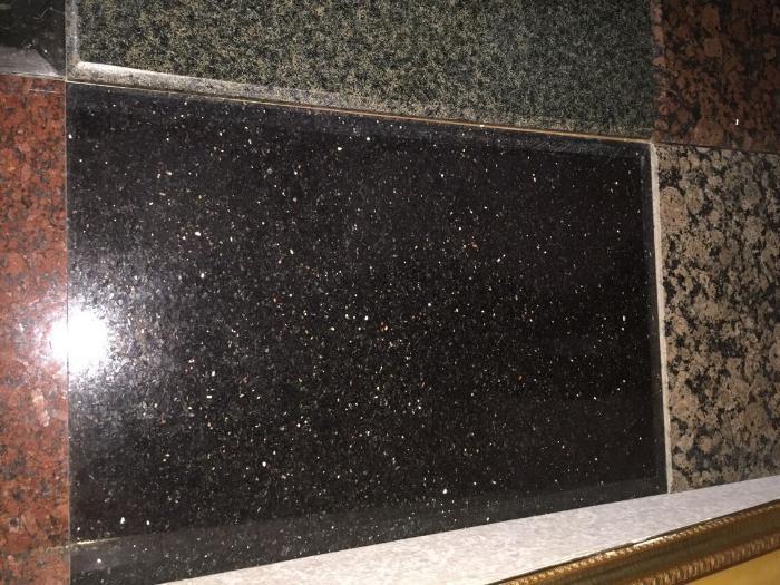 Black color galaxy granite