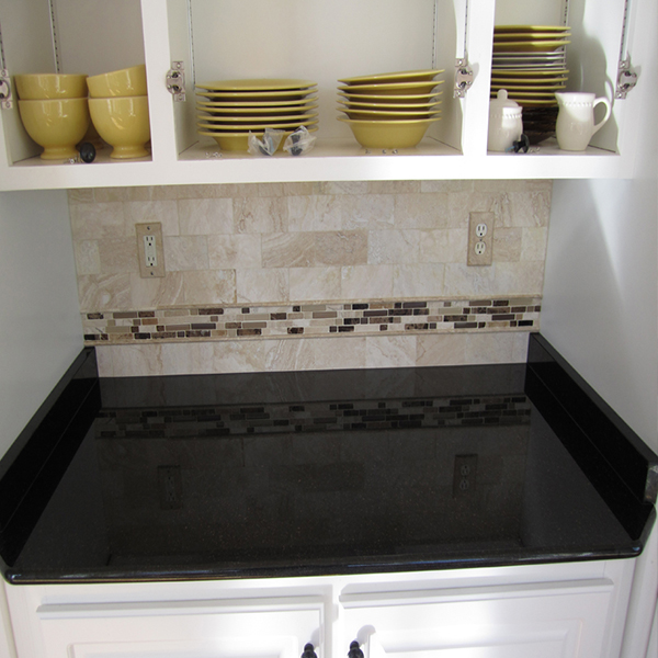 Black galaxy granite top