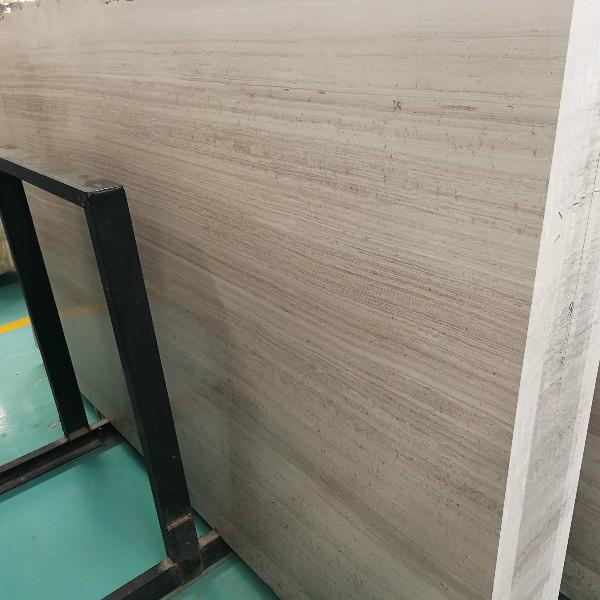 White wood marble slab