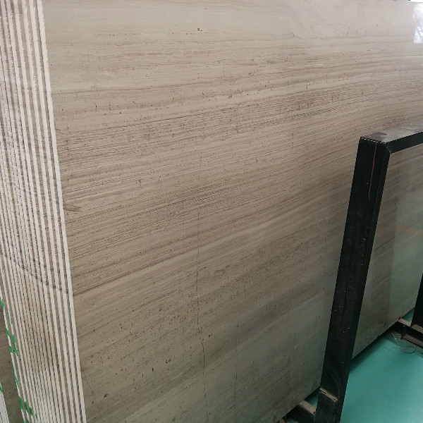 White wood marble less veins