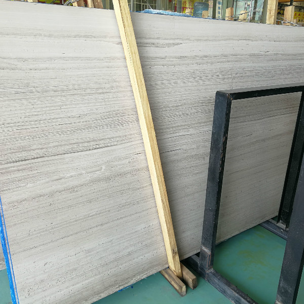 White color wood marble