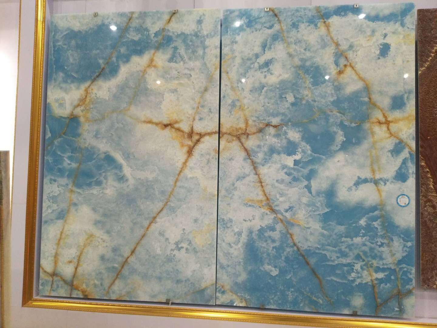 Blue Sky Backlit Onyx Slab
