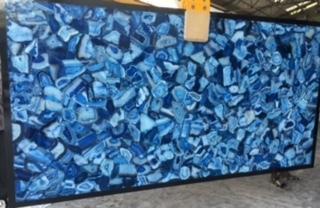 Blue Agate semiprecious slabs