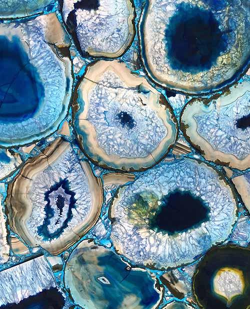Semiprecious Stone Blue Agate