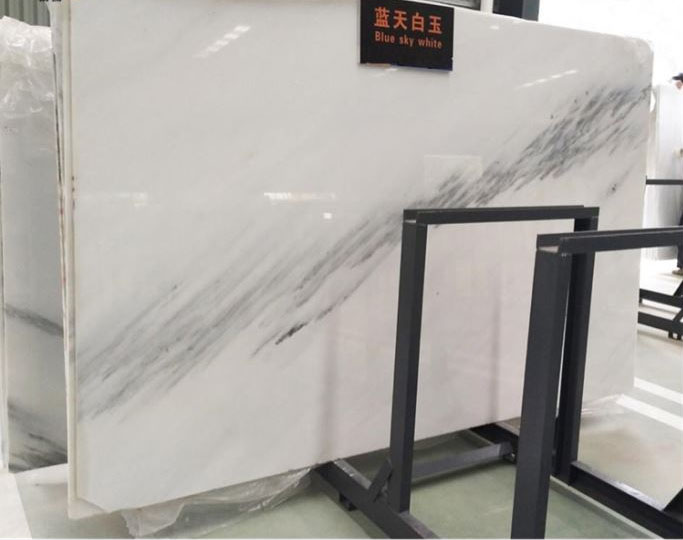 Blue Sky White Marble Slabs