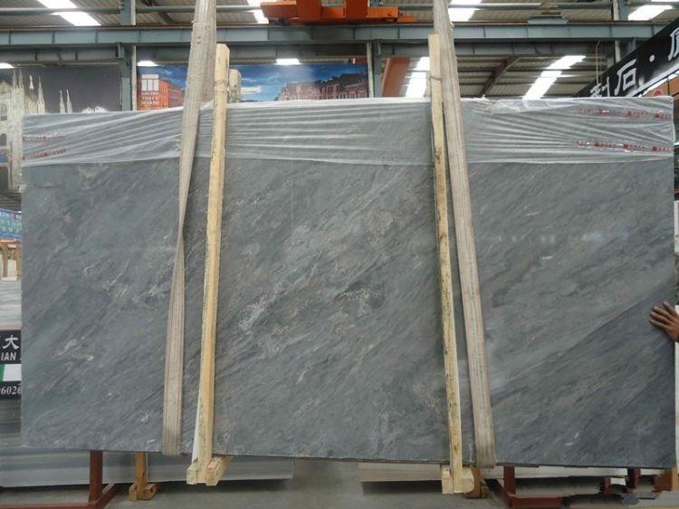 Blue Nuvolato marble slab