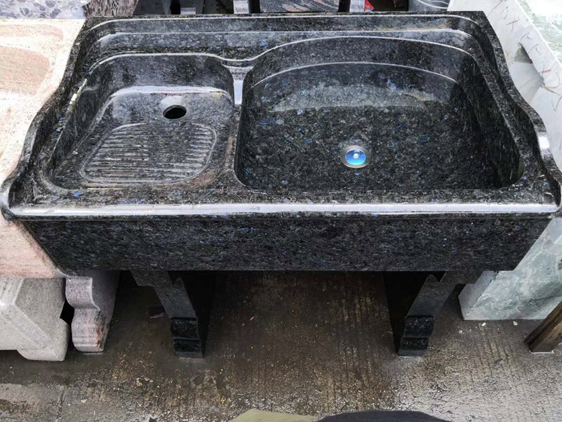 Blue Adamantine Granite Laundry Tub,  Blue Granite Laundry Pool