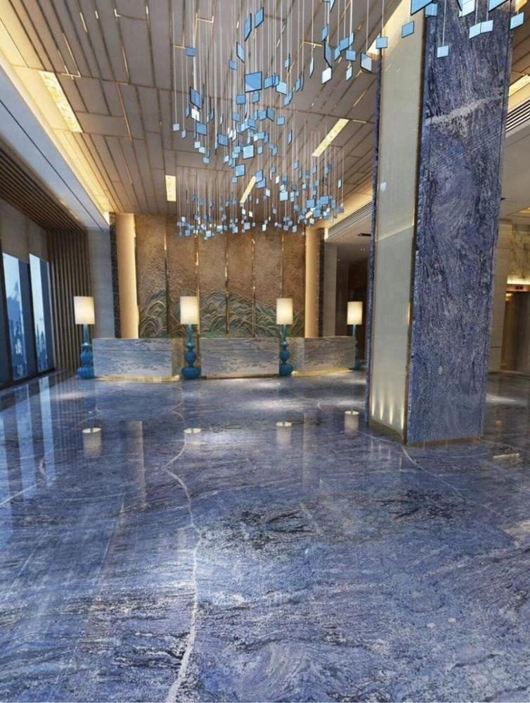Bookmatch marble flooring design