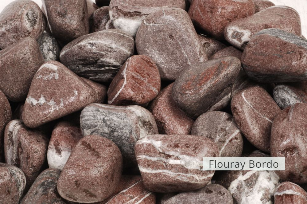Bordeaux Pebble & Gravel  Flouray Bordo Stone