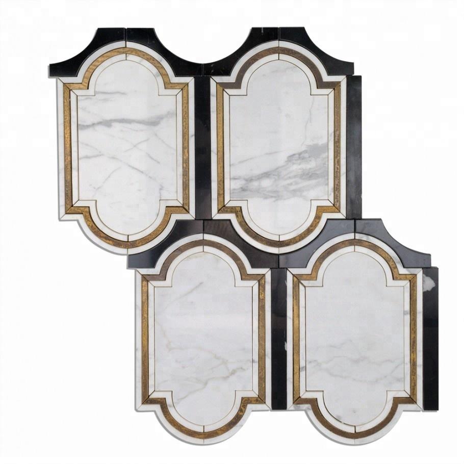 Brass & Marble Tile