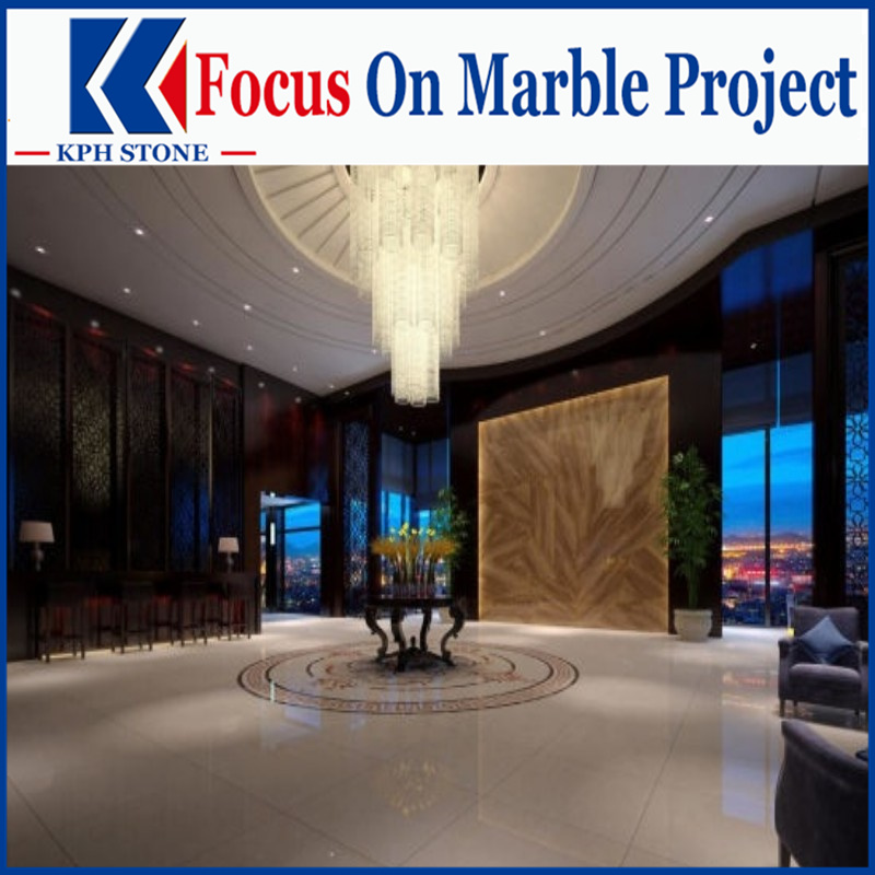 Burdur Beige Botanica Marble slab and tiles for hotel
