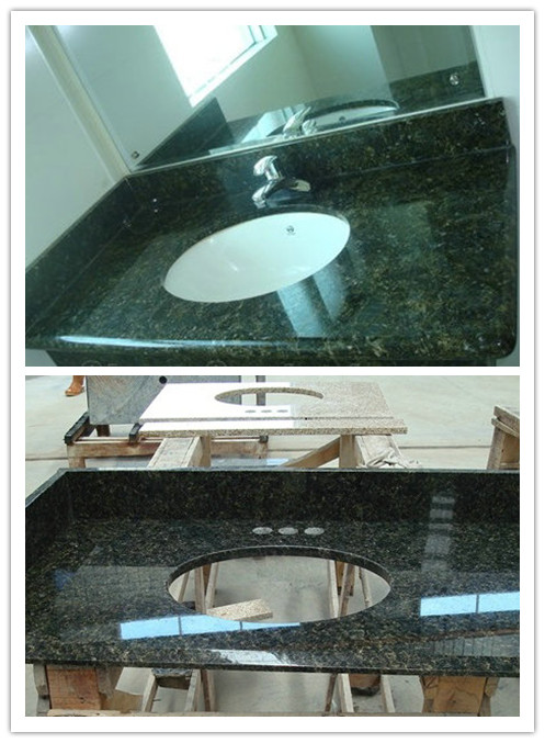 Granite black worktop