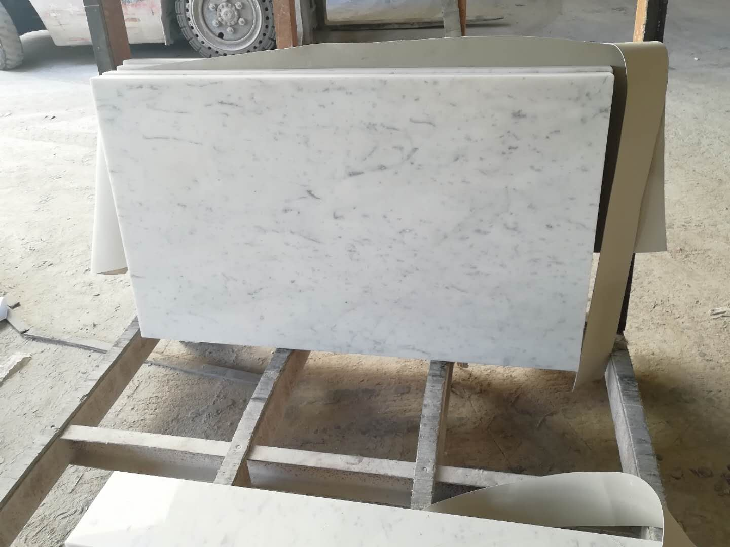 Carrara white marble countertops in Kitchen