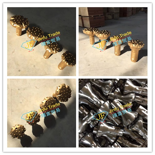 CIR series Low air pressure D-T-H drill bit for granite and marble quarry