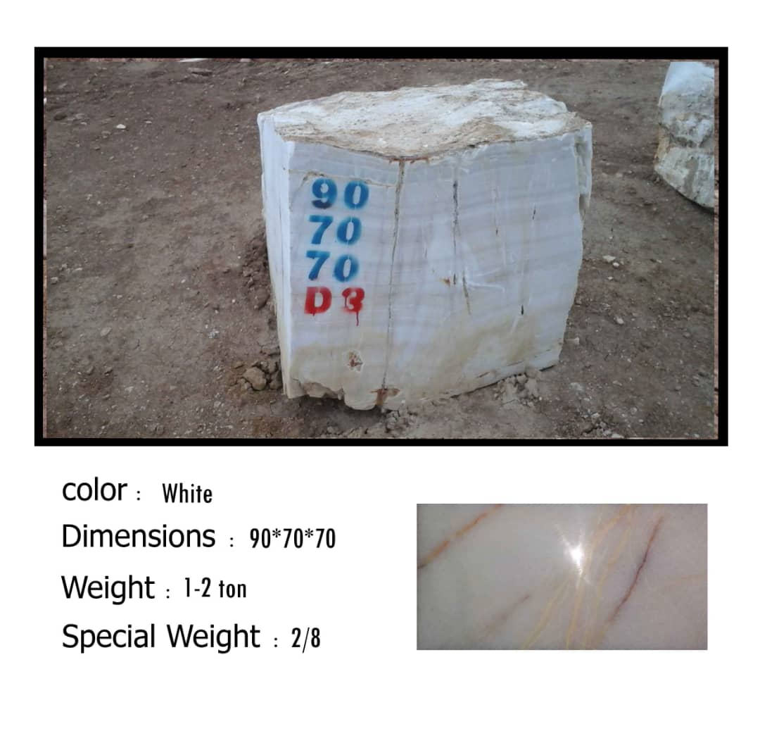 Iranian White Onyx Stone Blocks
