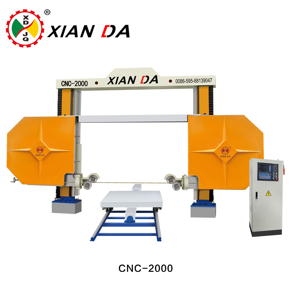 cnc-200025003000 diamond wire saw cutting machine for cutting special shape