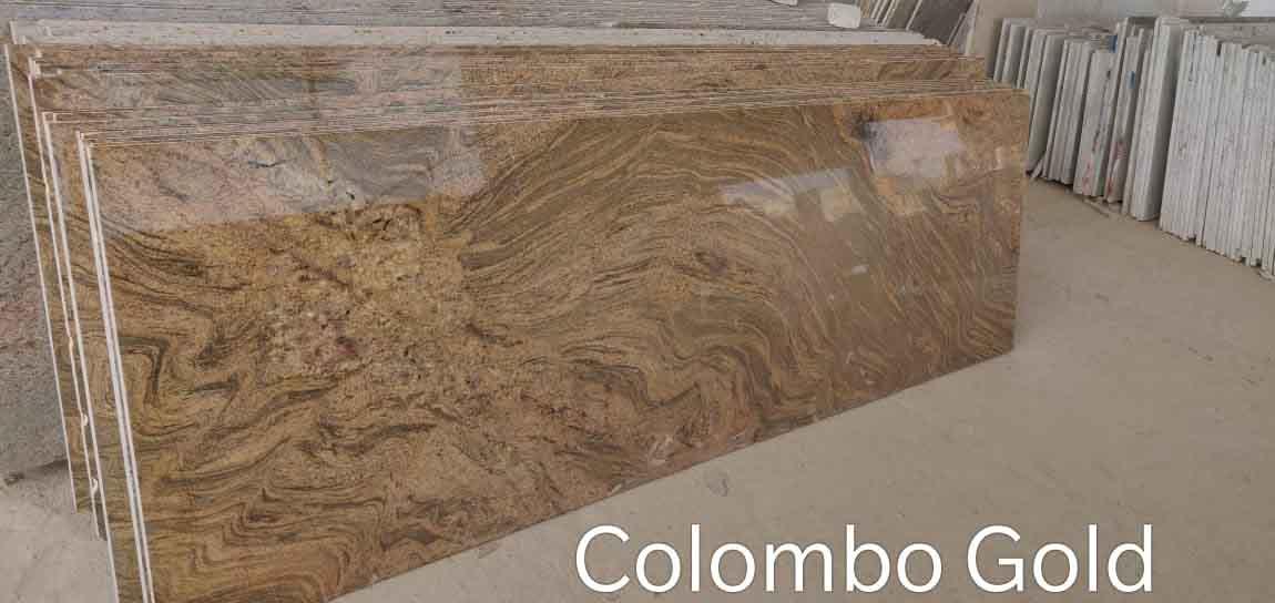 Colombo Gold Granite Slabs