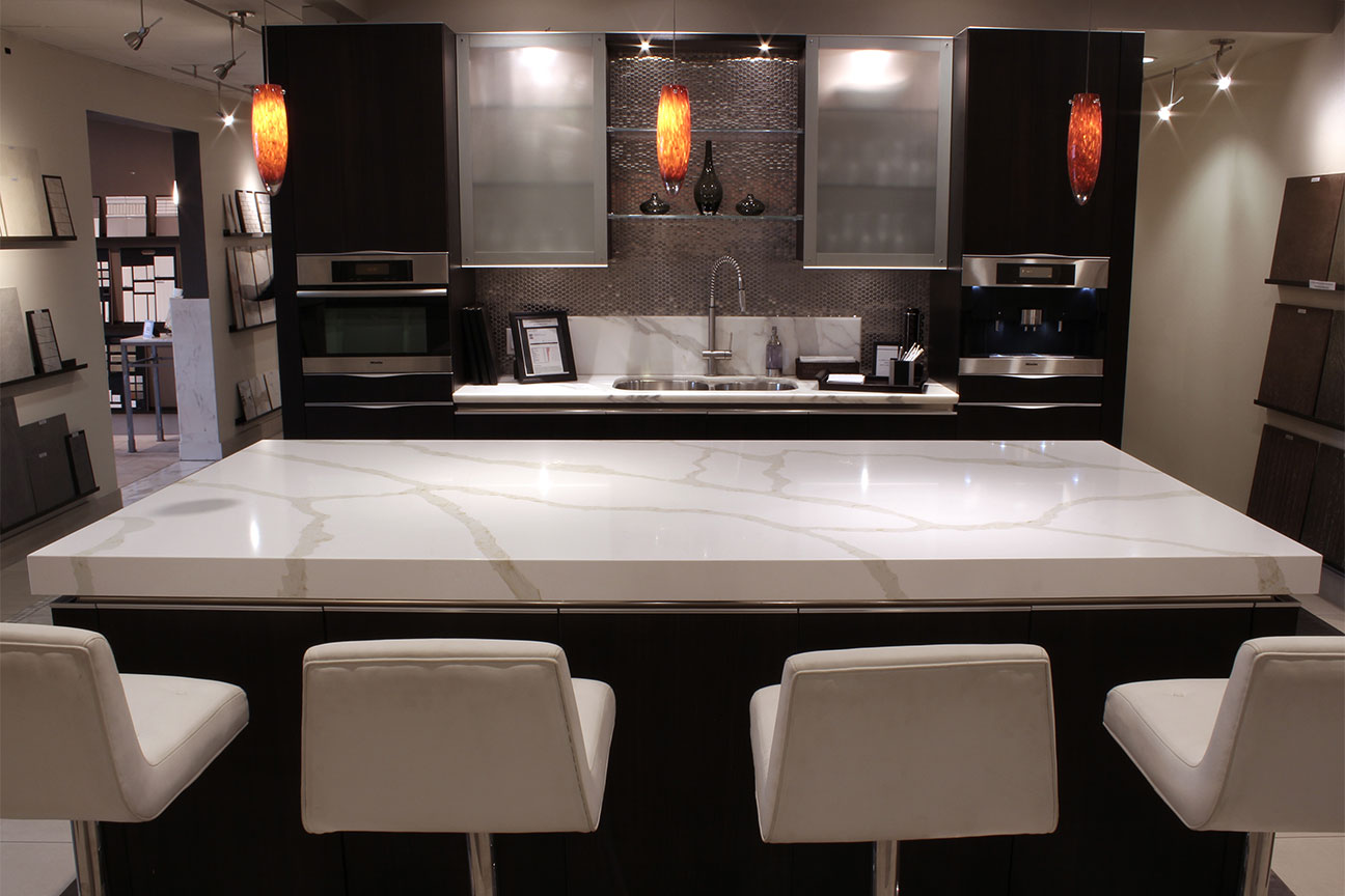 White Quartz Worktop Kitchen Countertops