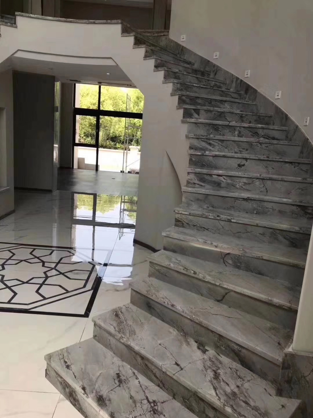 Marble stair and steps