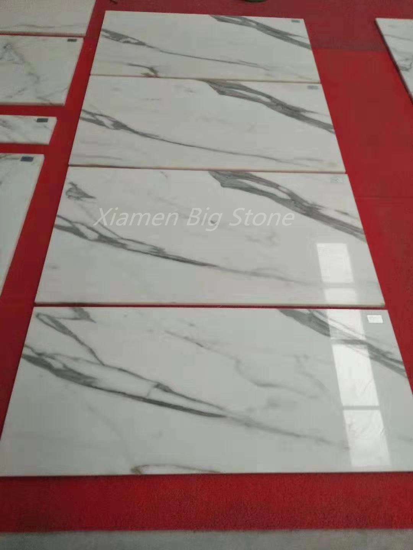 Italian Calacatta White Marble Tiles