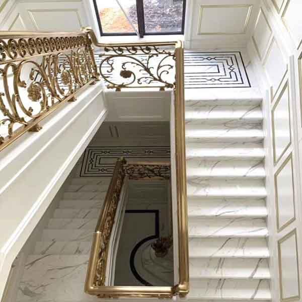 Calacatta White Marble Stair