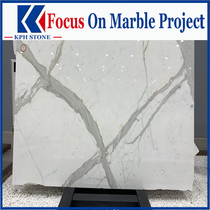 High quality calacatta white marble slab