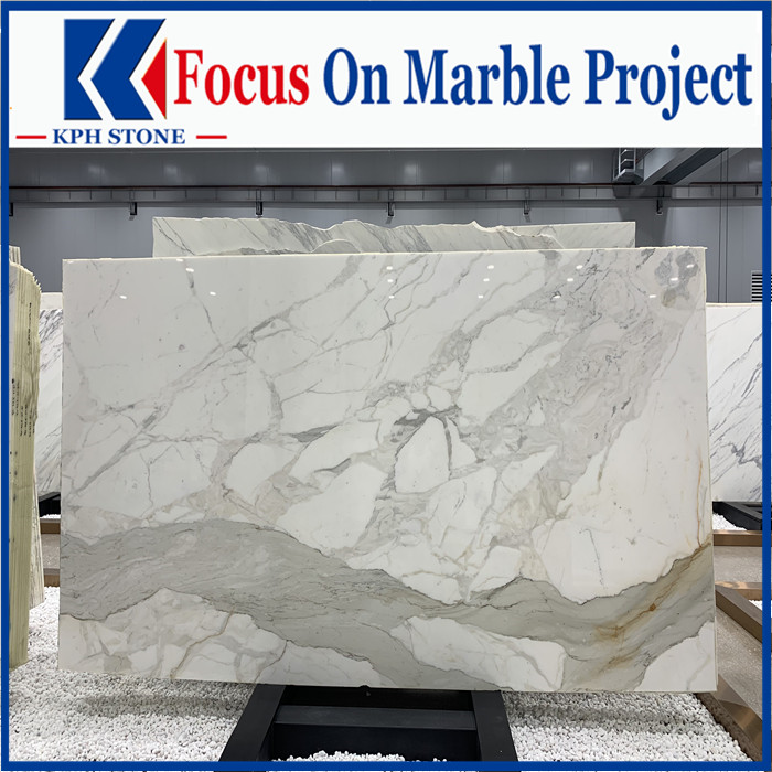Polished calacatta marble for walling