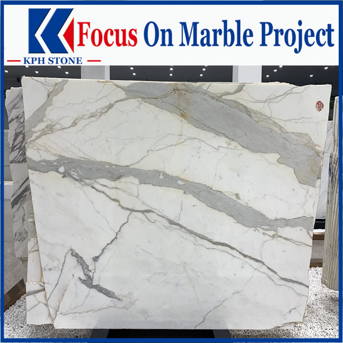 Calacatta marble slab in china market
