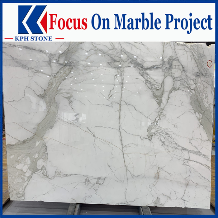 China calacatta white marble