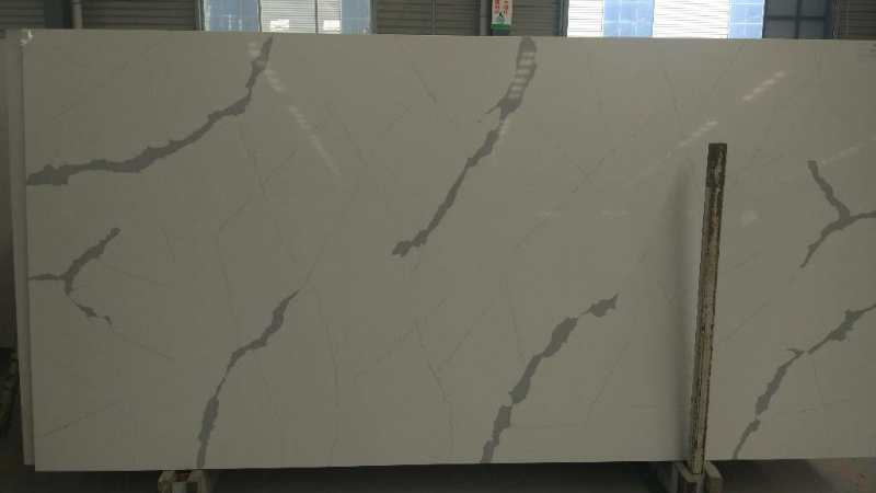 Calacatta white artificial quartz stone for kitchen