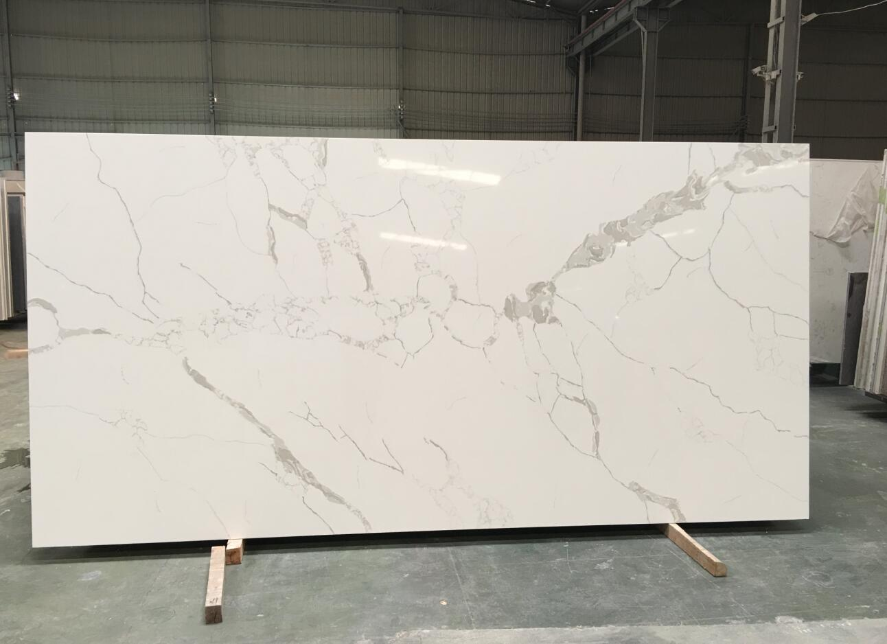Calacatte quartz slabs