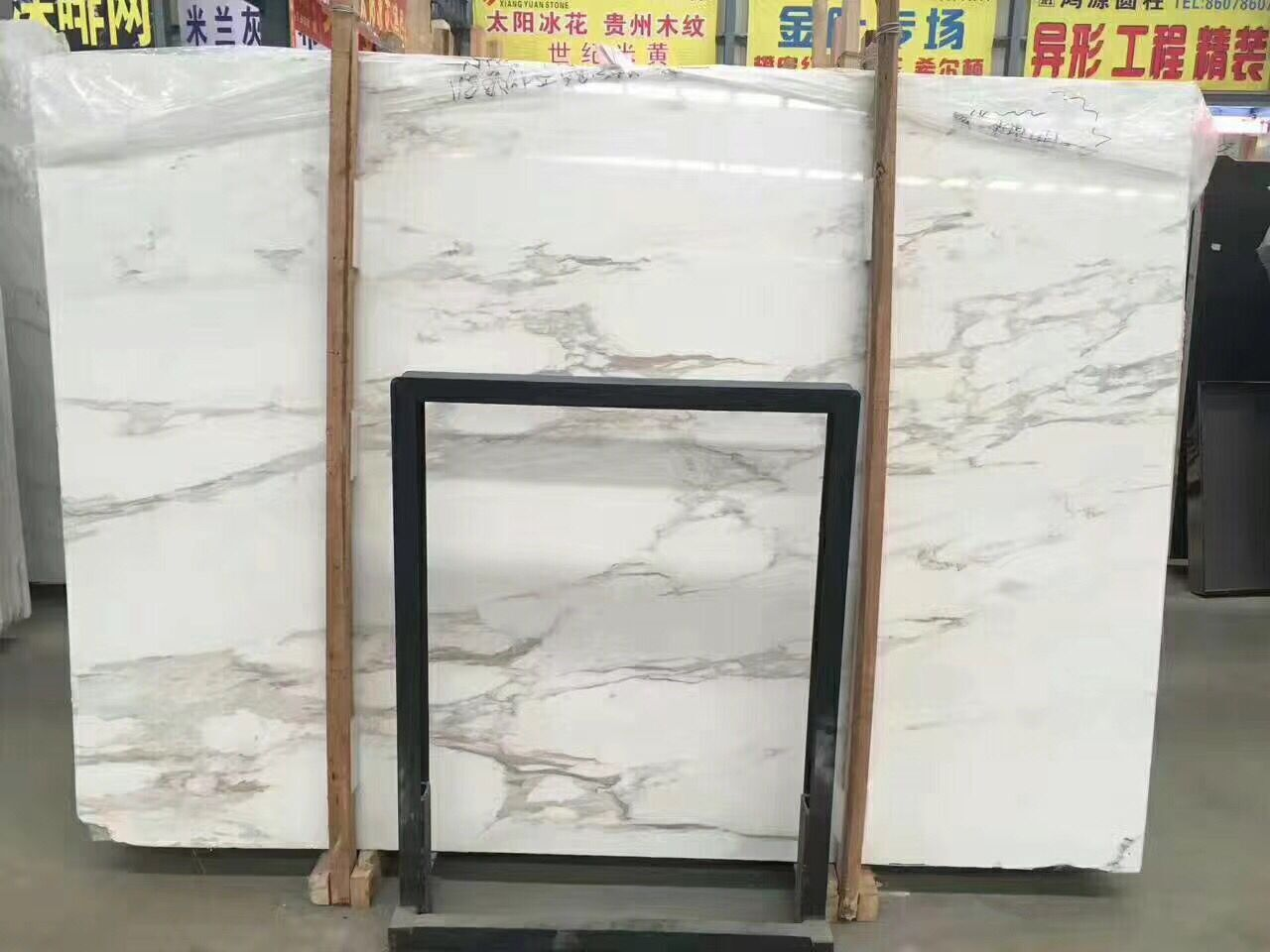 Calaccata Gold Italy White marble Polished Slabs & Tiles