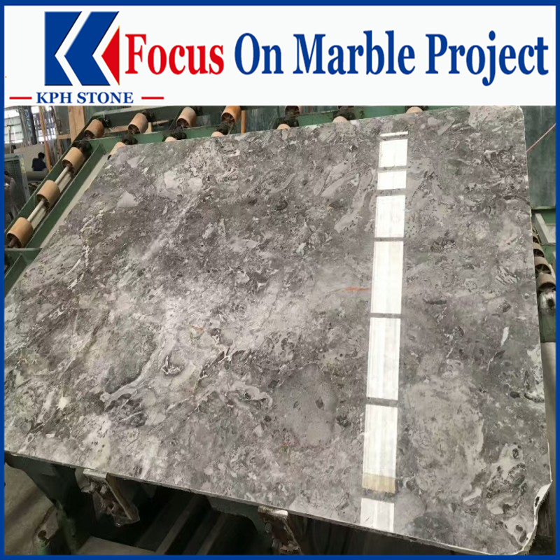Cappuccino Romantic Grey Marble Slabs
