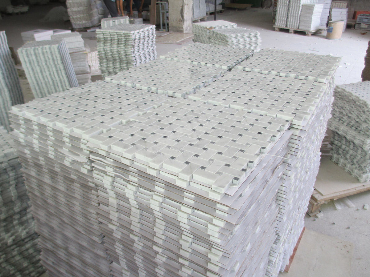 Carrara White Marble Mosaics for Walls